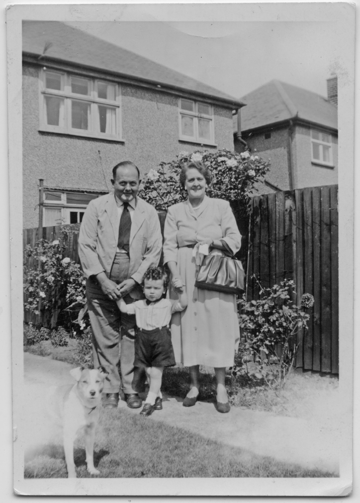Ralph in 1949 with his grandparents