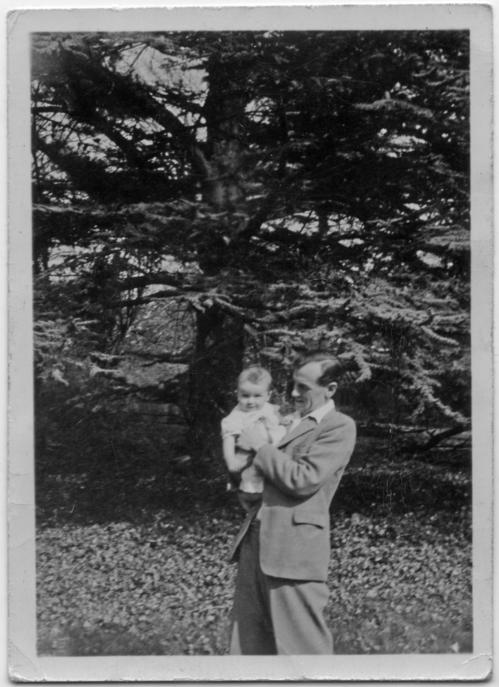 Ralph with mother, 1949