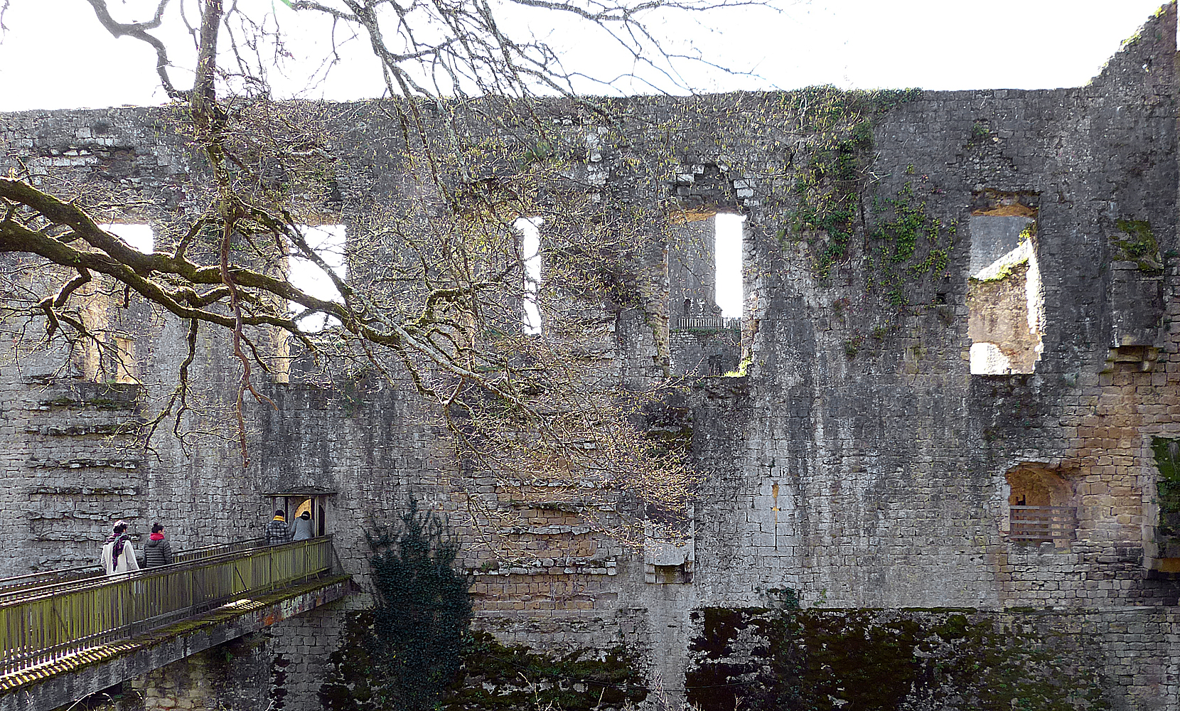 The North wall of Villandraut Castle