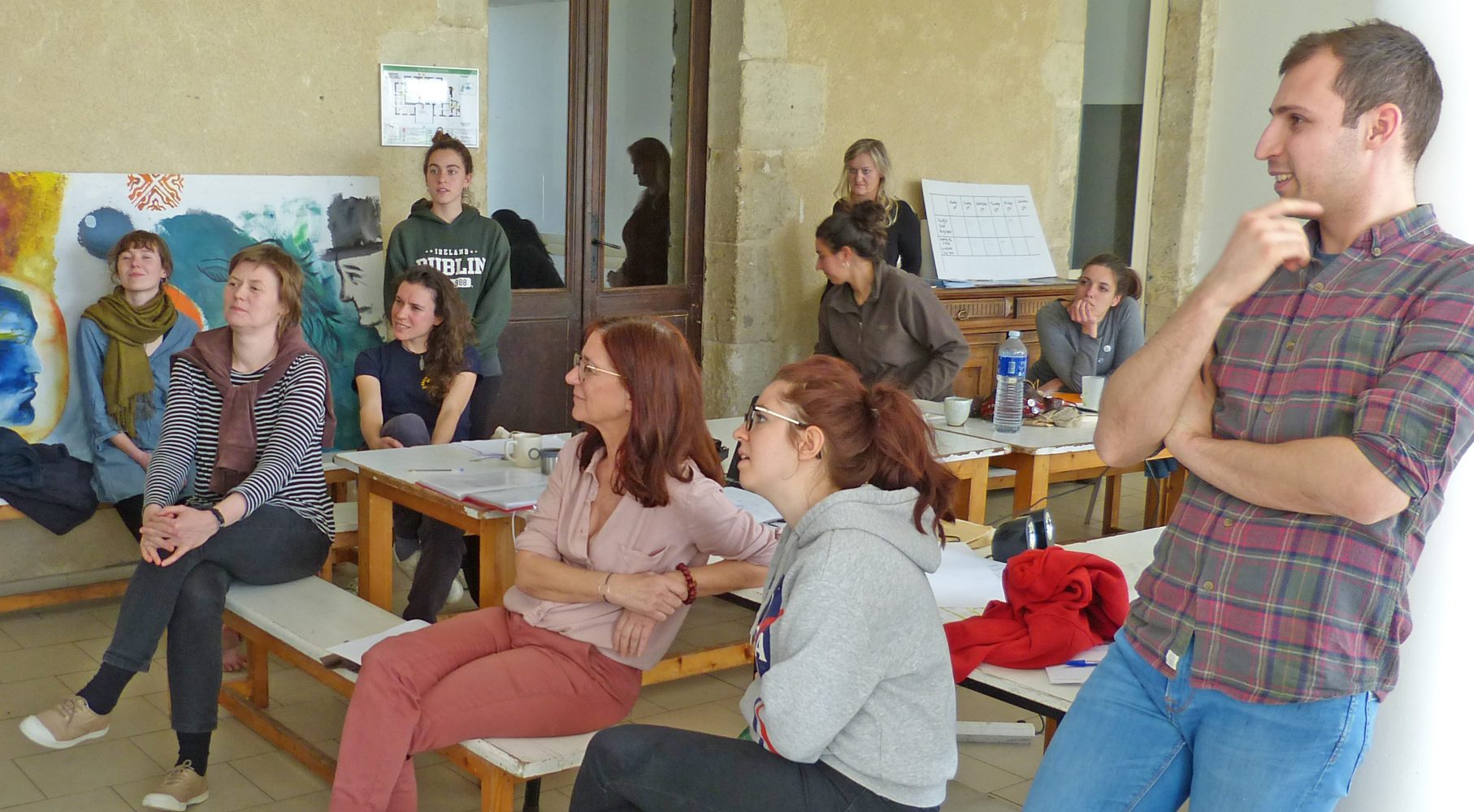 Presenting to the group during the workshop