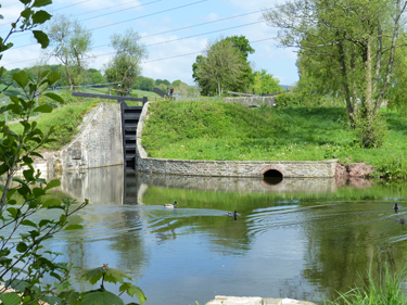 Restored lock on Monmouthshire and Brecon Canal